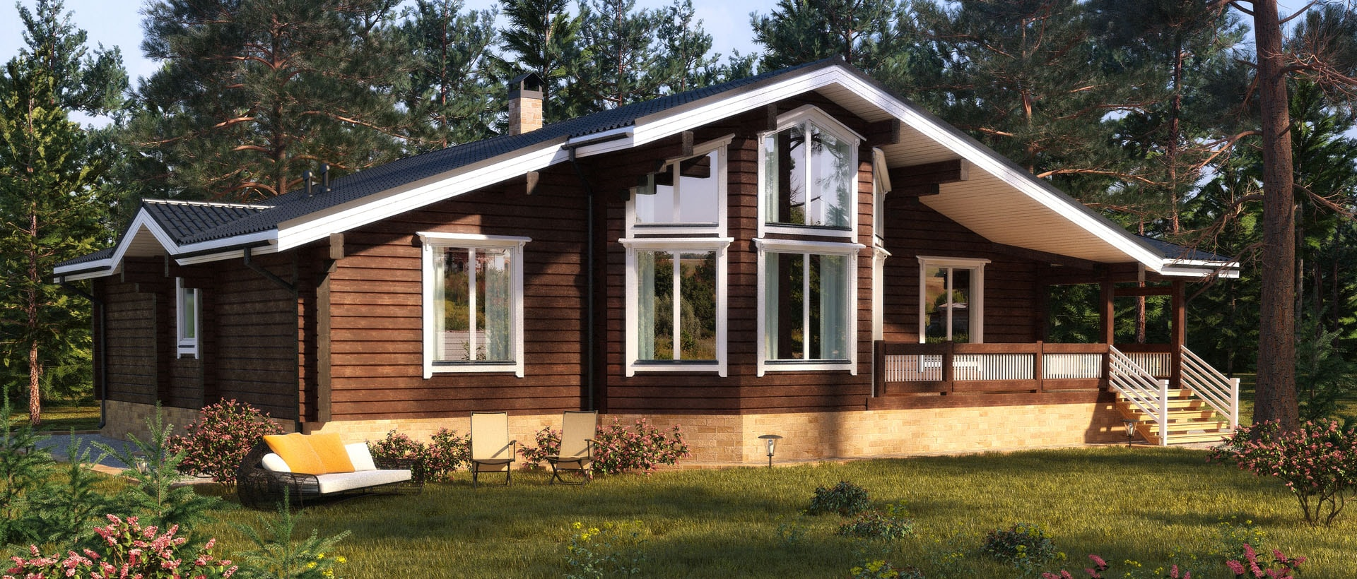 Красивый финский дом – прочный и быстро строится