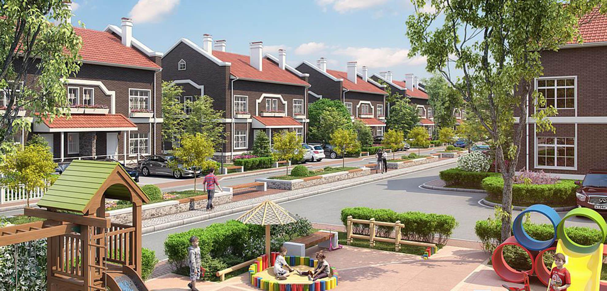 Жизнь в таунхаусах предполагает близкое соседство с другими семьями
