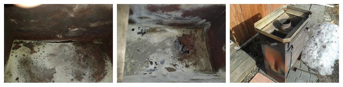 Разрушение сварных швов стальных печей