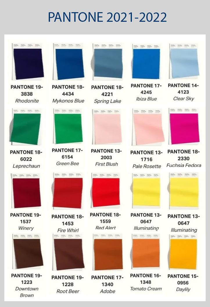 Pantone назвал самые модные цвета осени и зимы 2021 и 2021